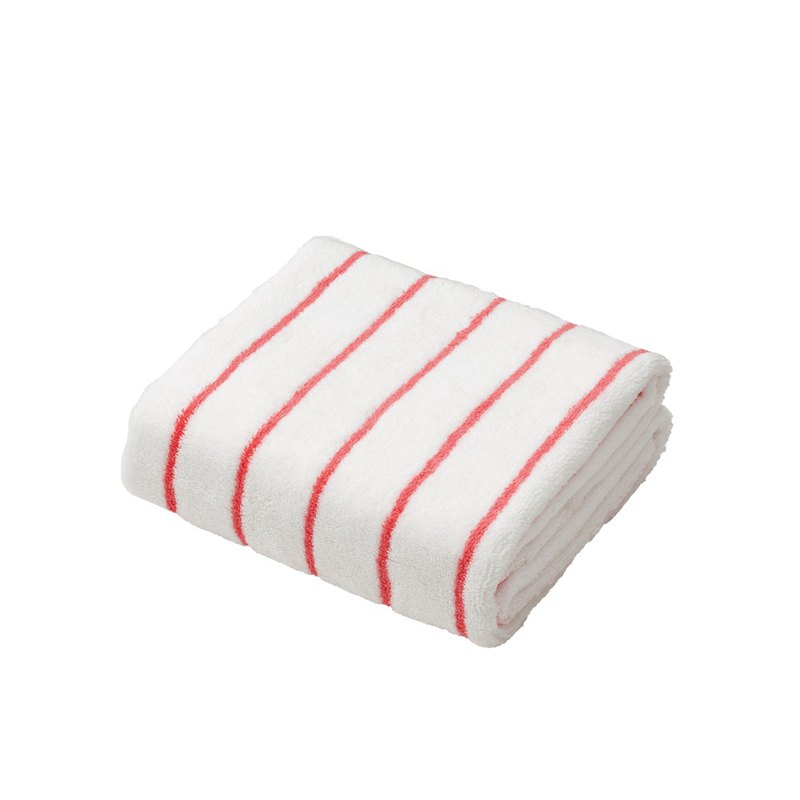 CB Japan bubble gum line series microfiber 3 times absorbent towel white red line
