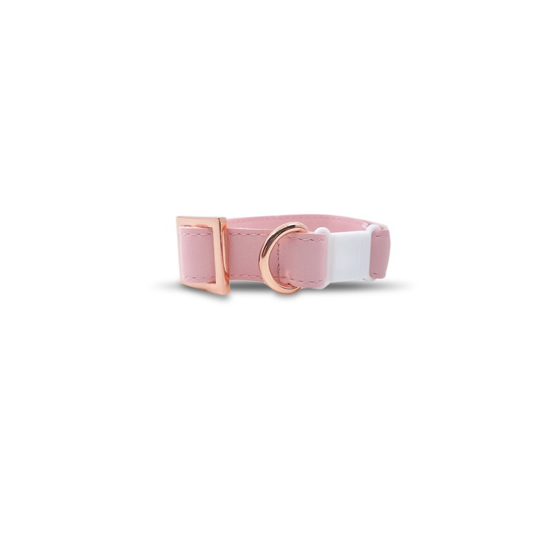 Blush Cat Collar with Rose Gold Hardware (Safety Breakaway Buckle)