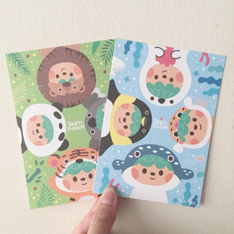 [Beryl cute little creature] postcard group (two sets)