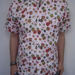 Short-sleeved shirt Japanese Pattern (bulk to Sakura and fan)