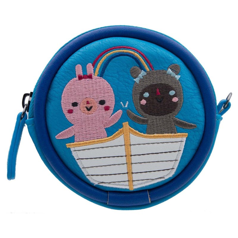 Crowded Teeth Design . Coins Bag Embroidered Round Bag. Multifunctional Storage Bag