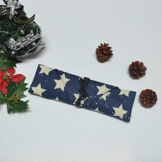 Stars Cutlery bag / Pen storage bag Hand-made simple canvas storage convenience