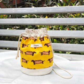 Hamburger dogs / American Cotton print / Shoulder bag  crossbodies  bucket bag