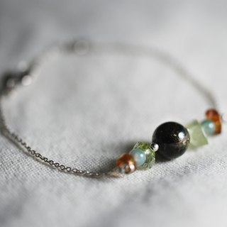 --Silver beaded bracelet--No.1 rosin hand string