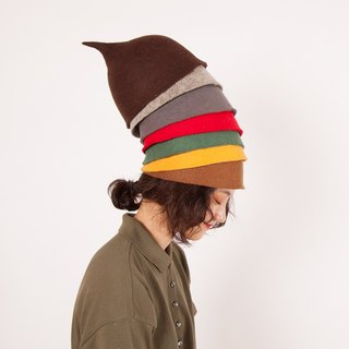 Ke original handmade felt hat female autumn and winter warm pure wool wool hat creative wool felt fashion sweet and lovely