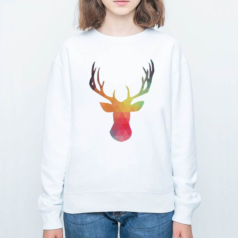 Abstract Stag white sweatshirt