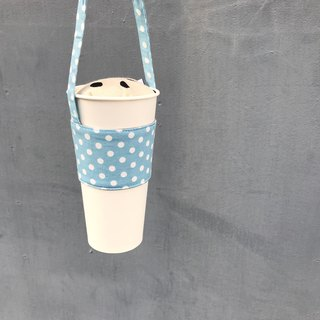Colorful drinks series ‧ cups and bags ‧ Calpis blue dot ‧ abbiesee gift shop
