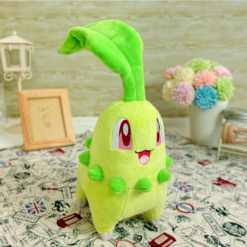 Pokemon Pokémon Chrysanthemum Leaf 15cm Wool Doll Doll Toy Doll Charm