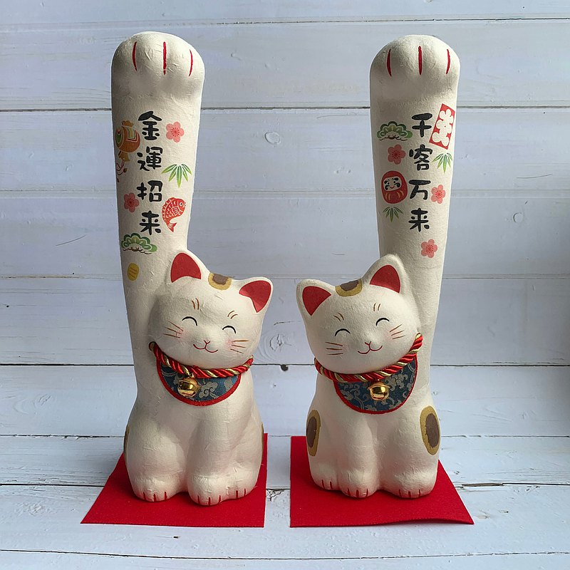 Hand-long cat group-Japanese paper lucky cat-thousands of passengers / Jinyun recruiting-big