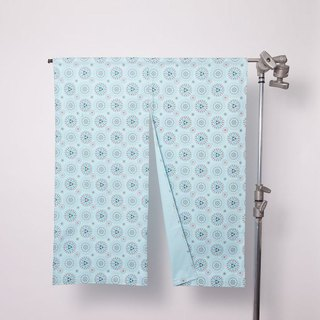 Japanese Door Curtain / Firework / Sky Blue