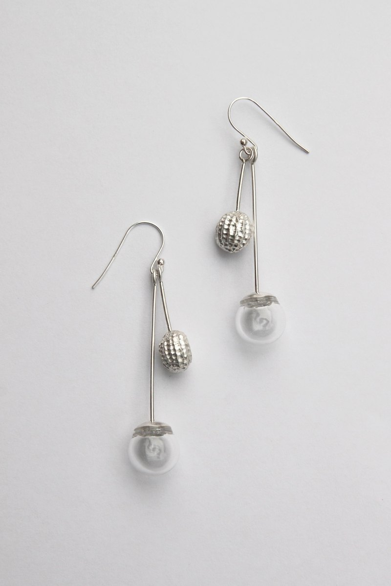 Organism Organism series sterling silver earrings