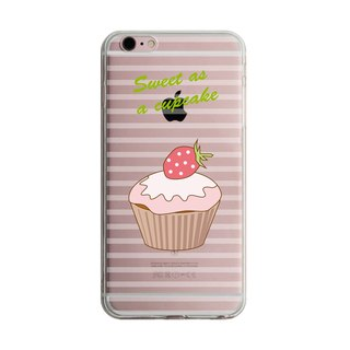 Custom Strawberry cupcakes transparent Samsung S5 S6 S7 note4 note5 iPhone 5 5s 6 6s 6 plus 7 7 plus ASUS HTC m9 Sony LG g4 g5 v10 phone shell mobile phone sets phone shell phonecase