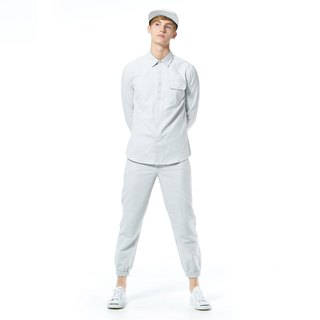 Caveman Shirt - Tallis Light Grey Stripe