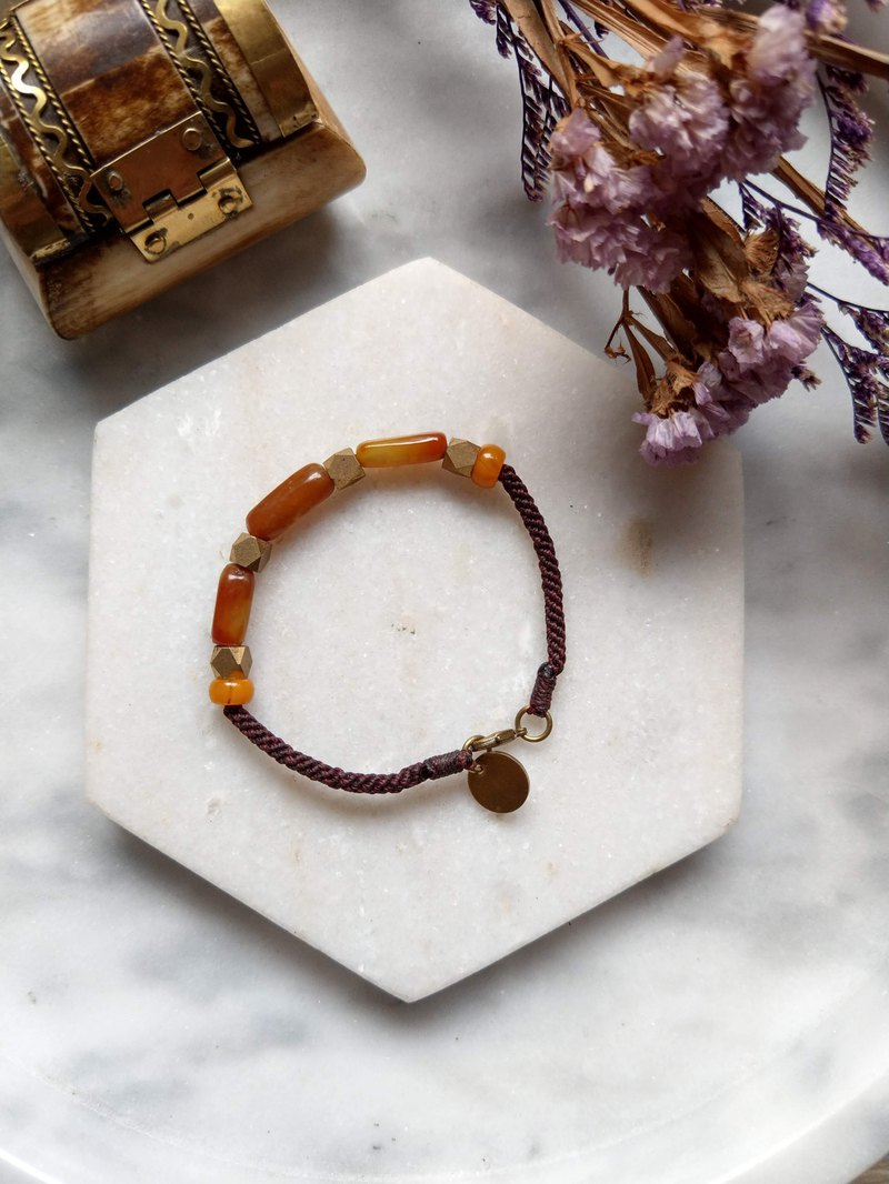 Oˋre Silver Bracelet Series Wax Rope Bracelet and Tian Yu Brass 31 with designer exclusive wooden box
