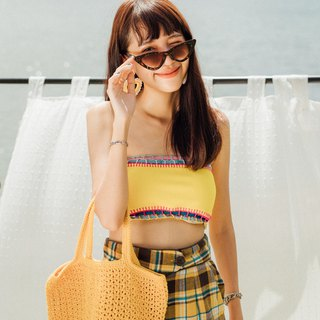 Yellow Handie Crochet Bag