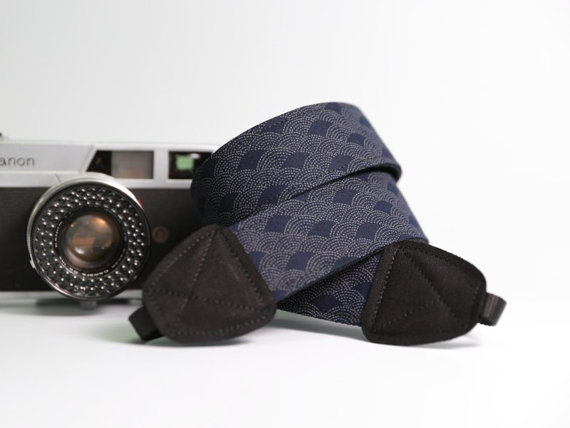 Pu.sozo Japanese hand made sea wave double strap camera / camera strap / camera rope / camera / camera