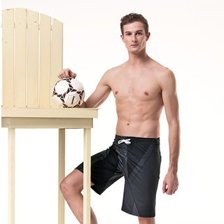 MIT big boyshort elastic beach trunks