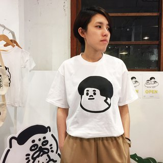 Side too big head - white summer short sleeve