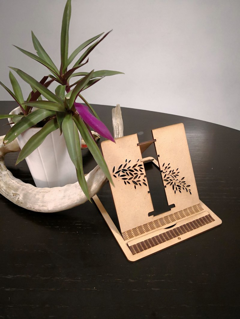 Adjustable Tablet Stand / Recipe bookstand -- laser-cut / Special Gift