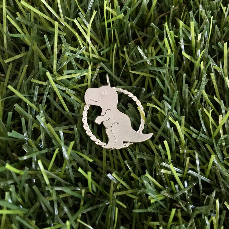 999 Sterling Silver Edge Tyrannosaurus Pendant (without necklace)