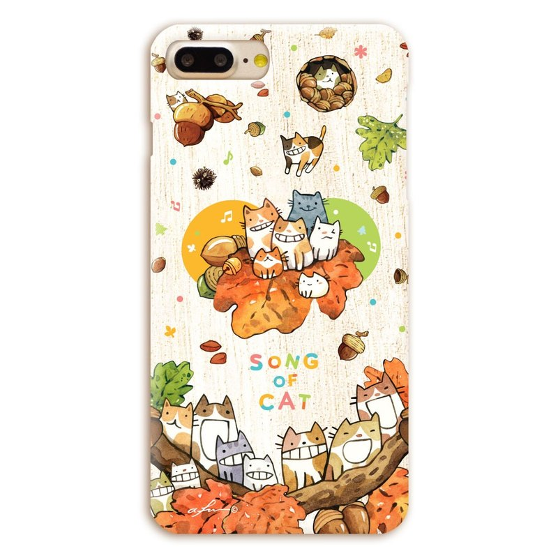 (Order to order) afu illustration mobile phone shell - iphone7Plus / 7sPlus - Oak Fruit Cat Chorus