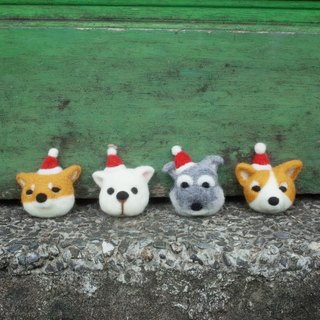 [Q-cute] Festival Series - Christmas - dog head - pin / brooch