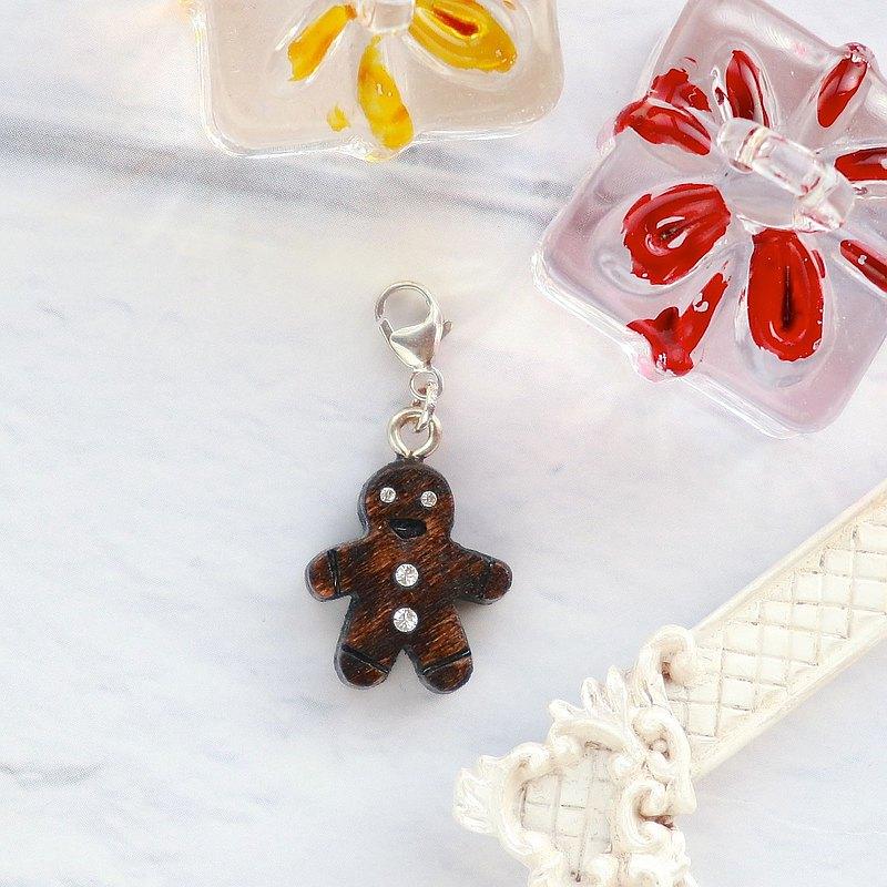 手工木製吊飾  薑餅人 吊飾  禮物訂製 聖誕禮物