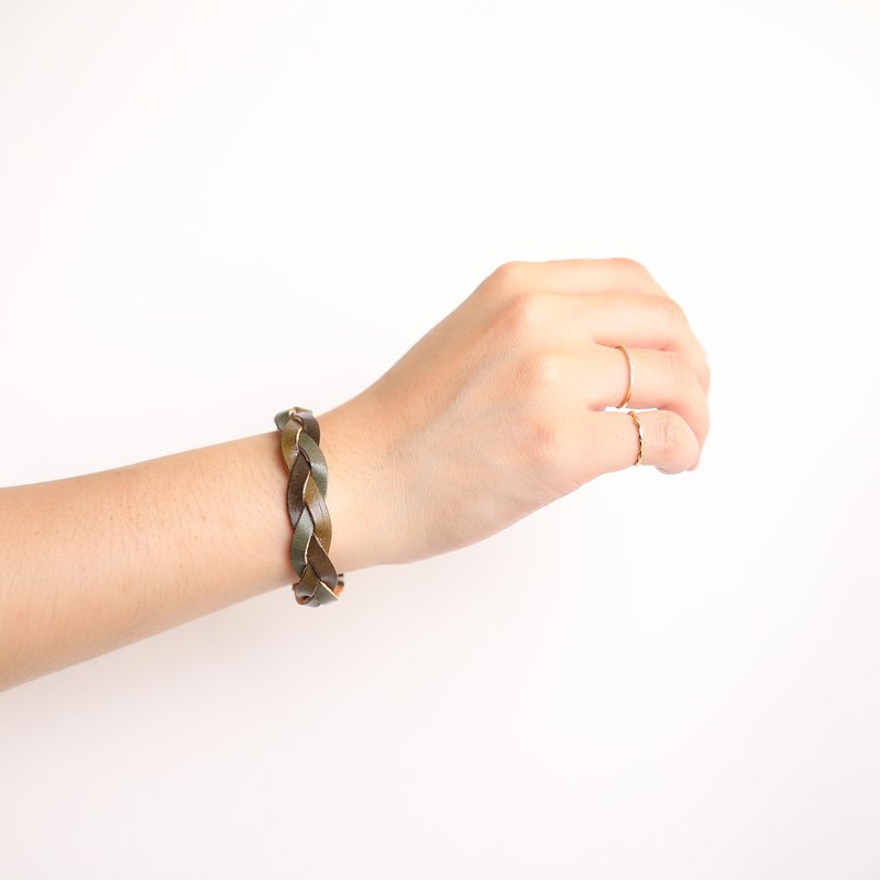 Wear a blessing woven bracelet, real leather hand-made experience class <single ticket>