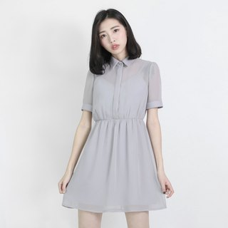 Chiffon Fog Flower Splicing Dress _8SF102_ Gray