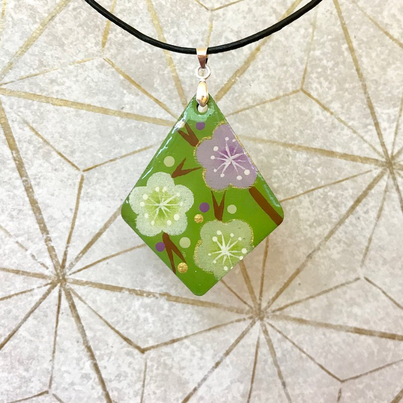 Green Cherry Blossoms Pendant, Japanese style
