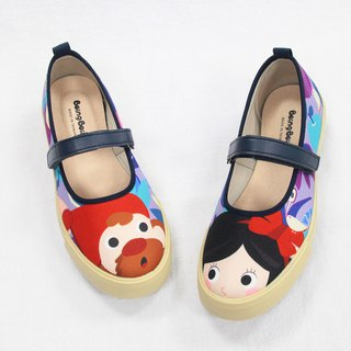 Adult illustration doll shoes - purple / elegant white snow women's shoes