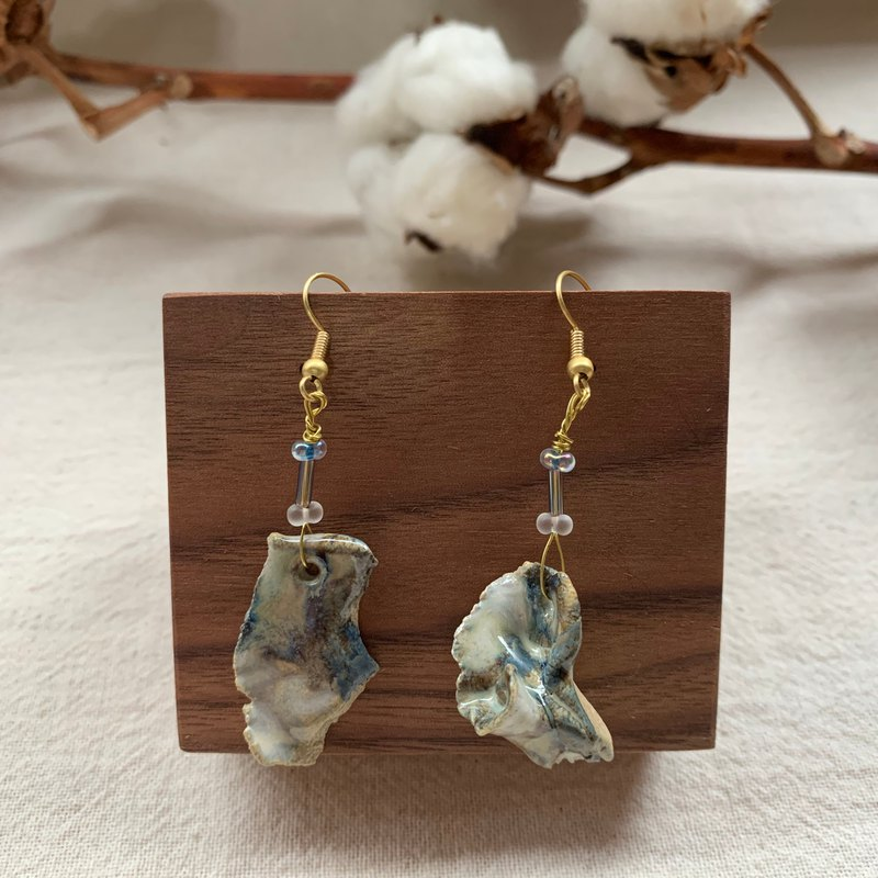 Clay irregular earrings 8