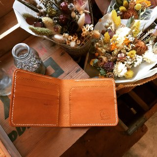 Want to live short clip _ leather hand sewing Simplest Wallet (Handmade)