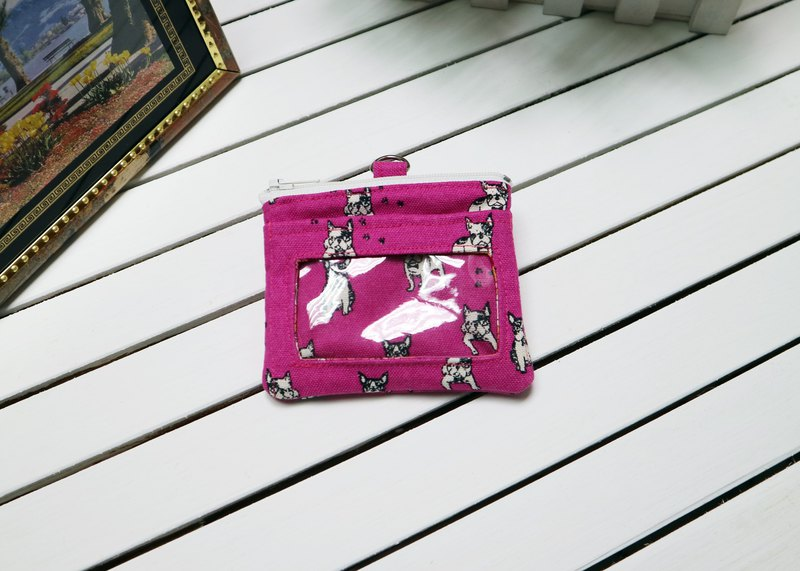 Pink dog leisure card certificate coin purse certificate set small wallet business card holder identification card