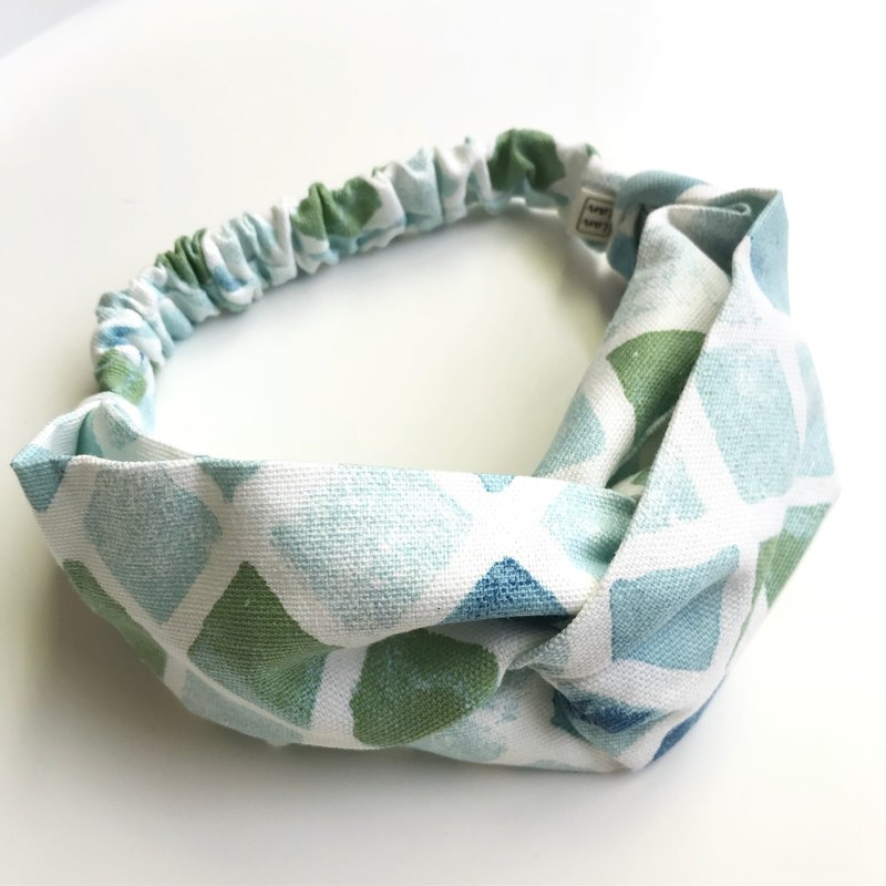 Gradual jelly cross hair band - blue green