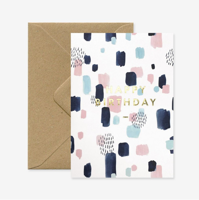 Colorful bronzing birthday card