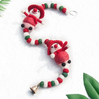 Christmas gift ornaments / home decoration / handmade wool felt / curtain / bell / hanging ornaments - Christmas snowman