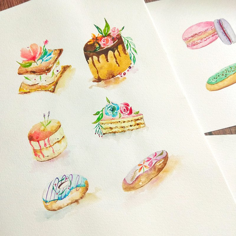 【เวิร์คช็อป】Set your own time on weekdays-Mstandforc Workshop-Watercolor Dessert Workshop
