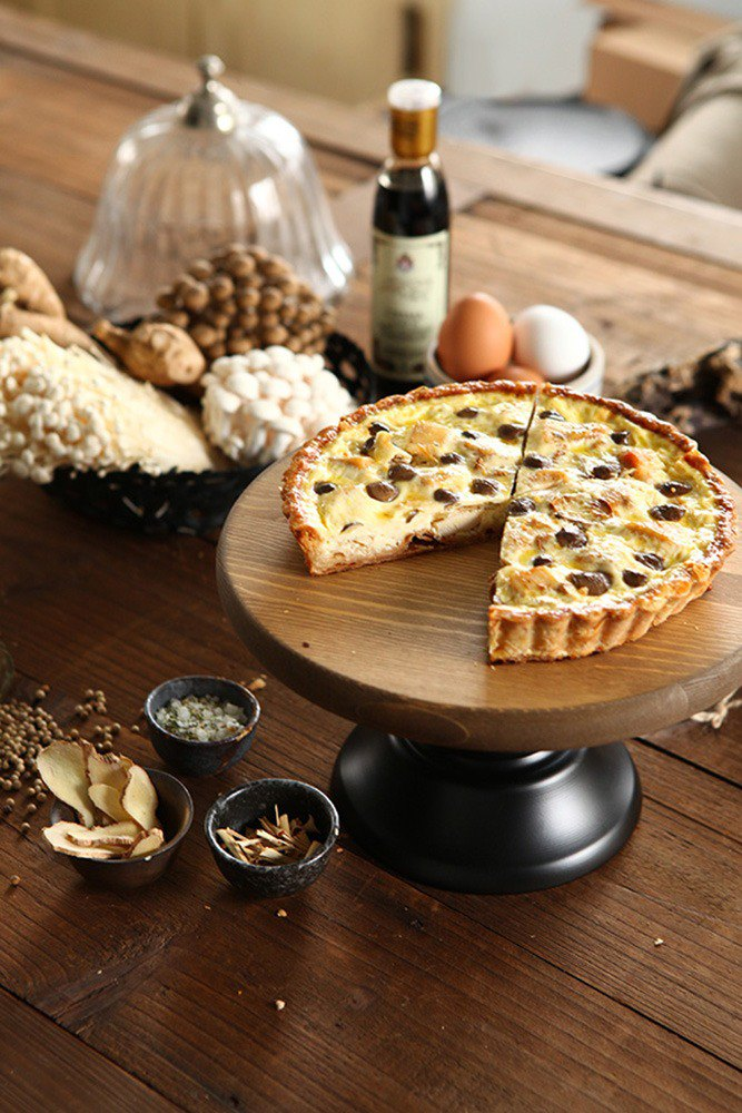 Sesame oil Chicken and Mushroom Quiche