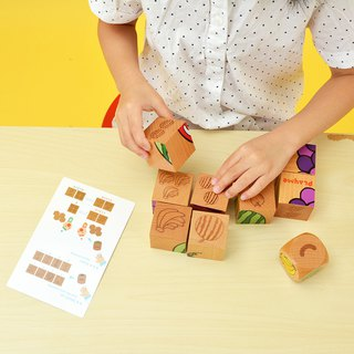 Puzzle knowledge and quantity learning*fruit platter*wooden building blocks toys