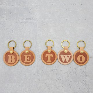 Be Two ∣ One plus one combination promotion __Leather letter key ring / Italian vegetable tanned leather / dog hanging