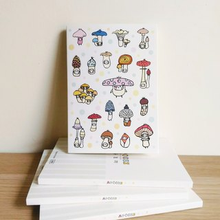 Cloth seed bio - Mushroom mushroom seed line plastic / checkered / notebook