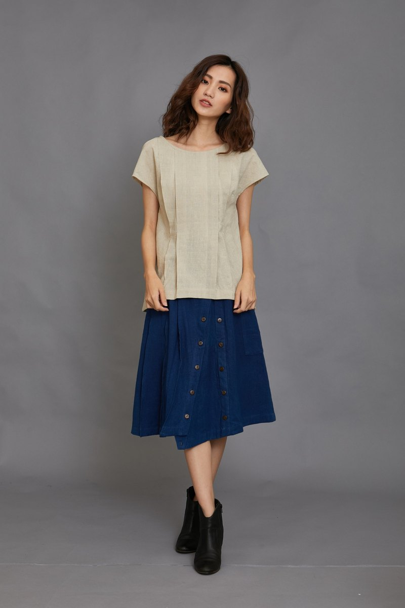 skirt pants-Blue green-fair trade