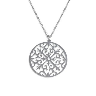 Decorative pattern in round shape pendant