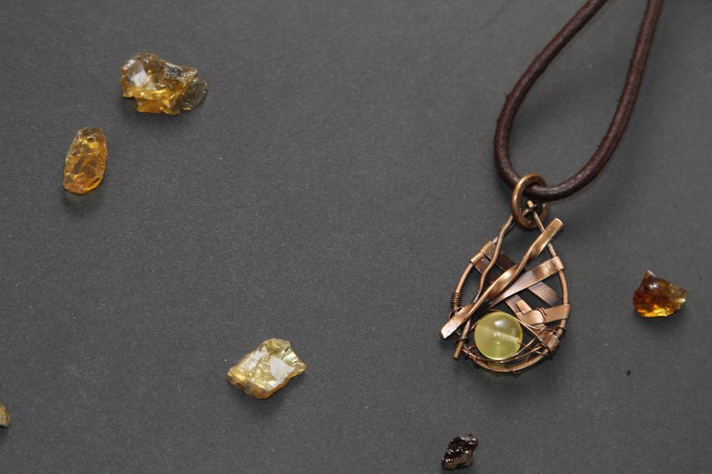 【Series of Amber】Russian amber pendant _ Incoming fortune and luck (sprayed)