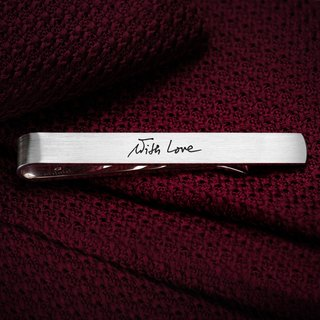 Engraved tie clip - Handwriting tie clip - Personalized tie clip sterling silver