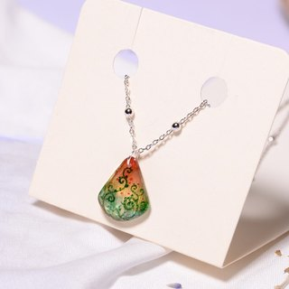Watermelon's Poem Pure Hand-painted Color Drawings Heat Shrink Plates, Plated Platinum Necklaces, Creative Handicrafts, Customizable