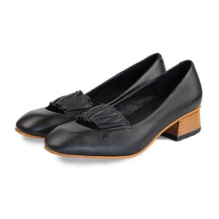 Ballerina W1070 Black Leather Pumps