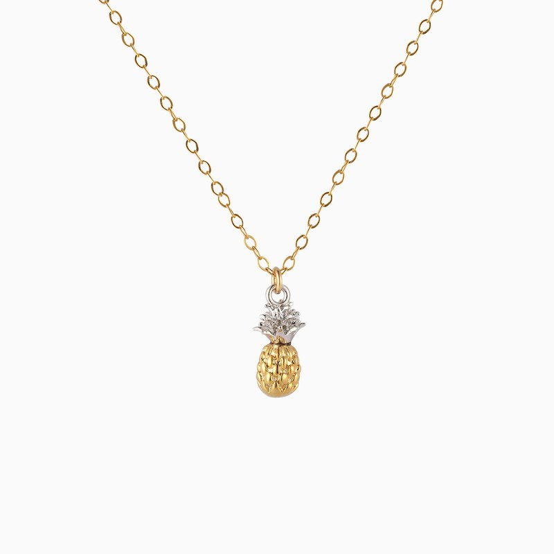 Pineapple Necklace - 14K Gold Filled - Tropical Necklace - 3D Pineapple Necklace