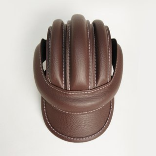 SE ic | leather retro bicycle leather hat | brown